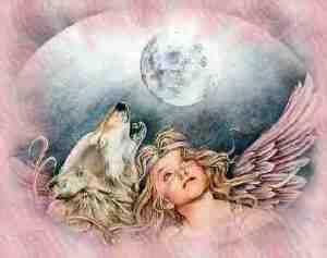 ängel varg måne