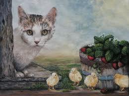 Katt kycklingar