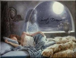 Godnatt kvinna pläd blått
