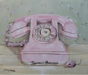 Telefon rosa vintage