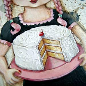 Flicka tårta fat