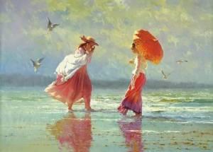 Kvinnor vid havet
