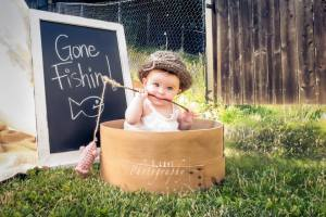 Barn fiskar kul