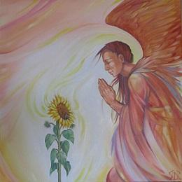 Healing ängel solros - kopia