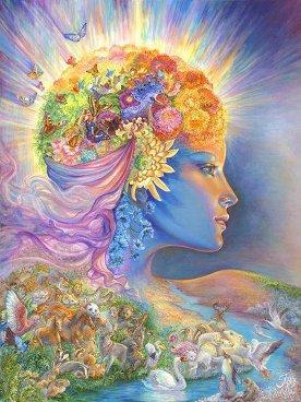 Kvinna blommor håret