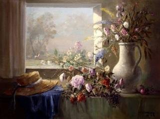 Fönster blommor hatt kopia