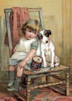 Barn stol hund kopia