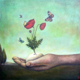 Hand kruka blomma kopia