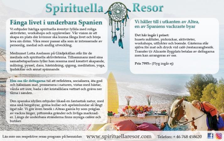 Andlig resa Spanien